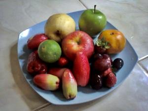 buah yg siap di potong-ptong
