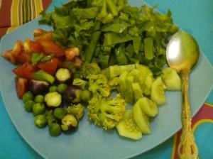 sayuran segar natural * ini foto sebelum terapi